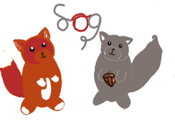 Sog logo http://sogsaveourgreys.weebly.com/ grey squirrel red squirrel acorn cartoon squirrels cute